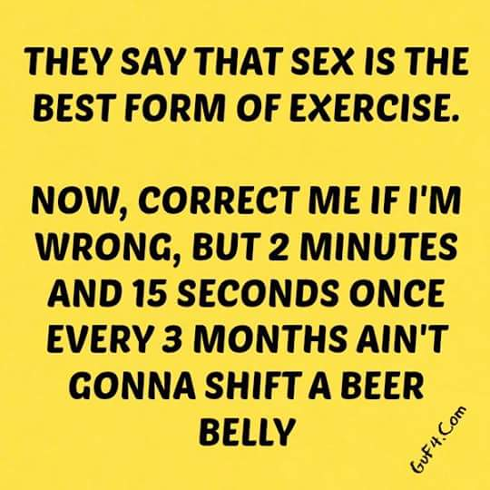 Is sex the best form of exercise