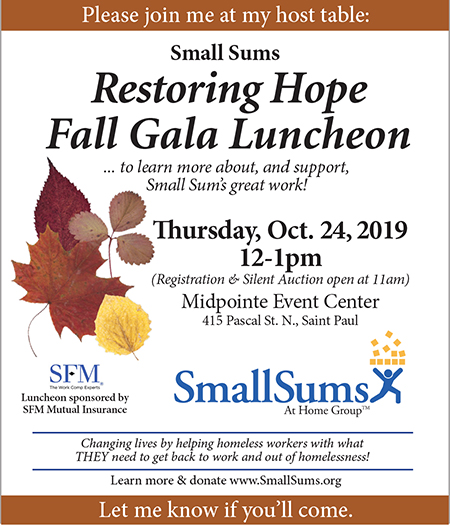 2019 Fall Restoring Hope Complimentary Luncheon